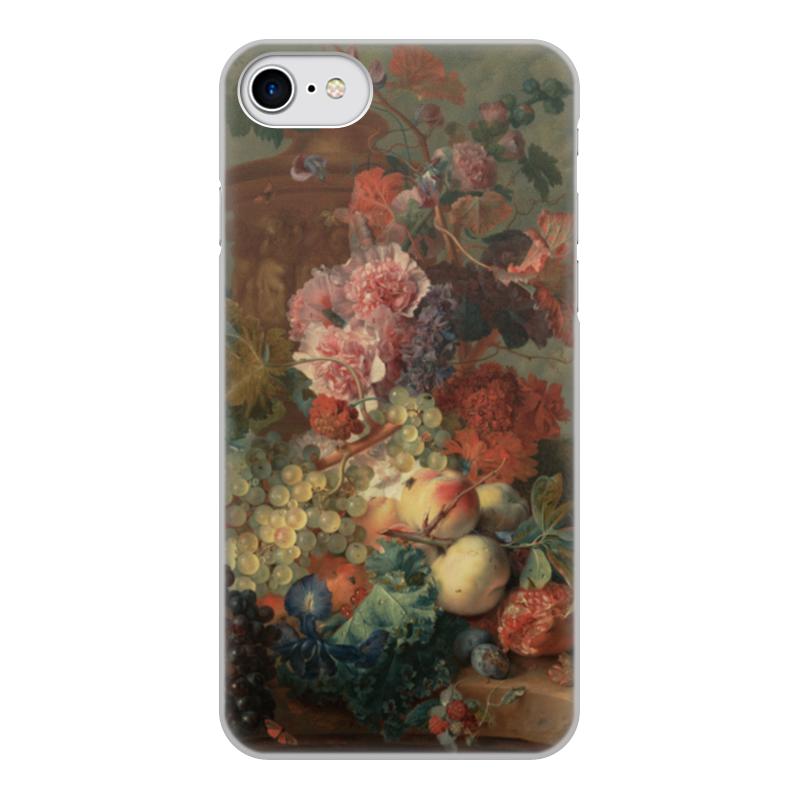 Чехол для iPhone 8, объёмная печать Printio Цветы (ян ван хёйсум) фартук с полной запечаткой printio цветы ян ван хёйсум