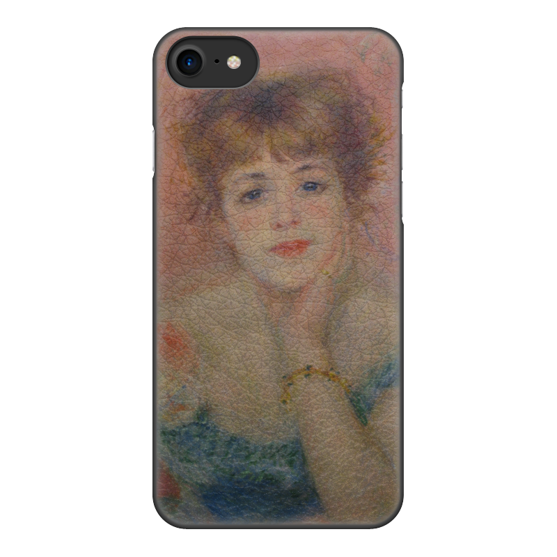 Чехол для iPhone 8, объёмная печать Printio Портрет актрисы жанны самари (ренуар)