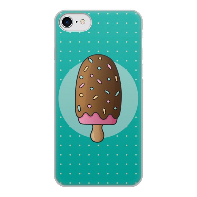лучшая цена Чехол для iPhone 8, объёмная печать Printio Мороженое