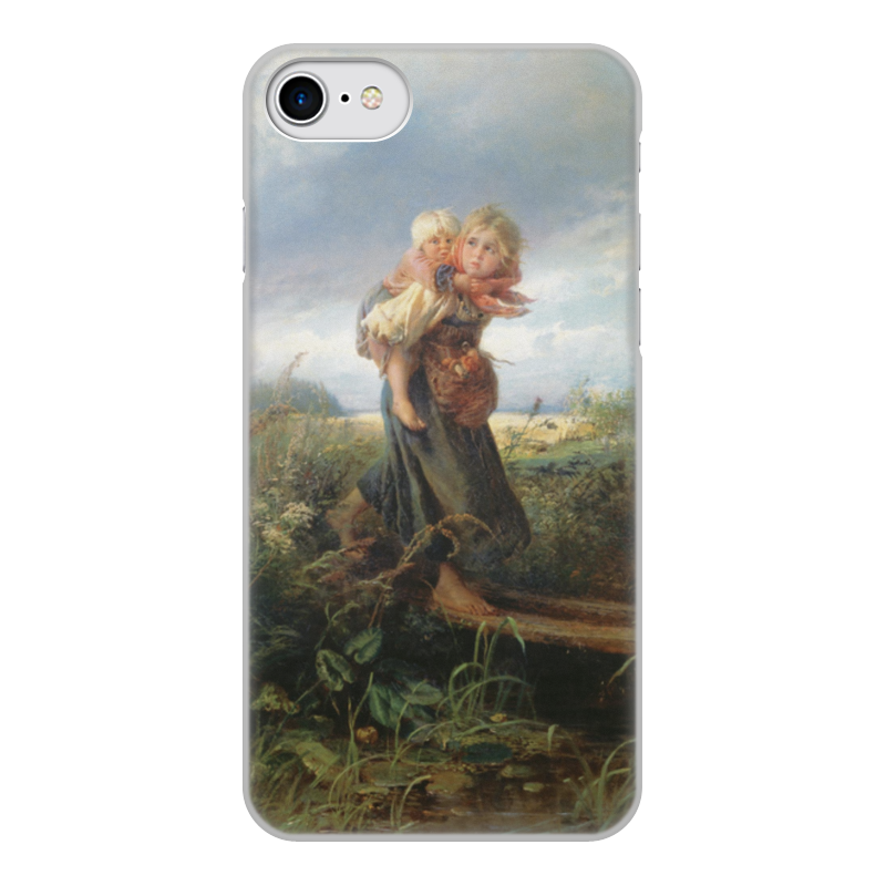 Чехол для iPhone 8, объёмная печать Printio Дети, бегущие от грозы (константин маковский)