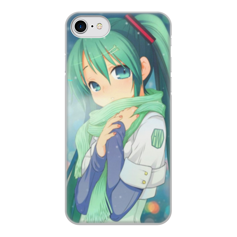 Чехол для iPhone 8, объёмная печать Printio Miku hatsune sush diy custom car cartoon stickers hatsune miku vinyl sticker printing carving protection film car funny graffiti sticker decals