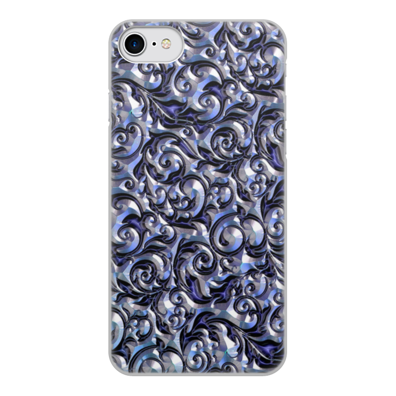 Чехол для iPhone 8, объёмная печать Printio Узоры чехол для iphone 8 объёмная печать printio буря красок