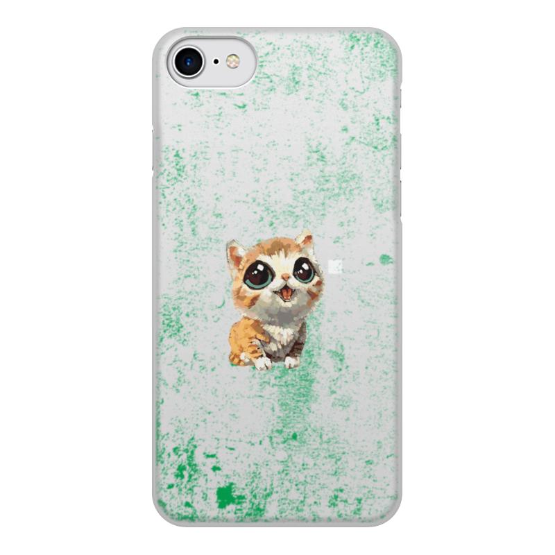 Чехол для iPhone 8, объёмная печать Printio Мяу! мяу! цена и фото
