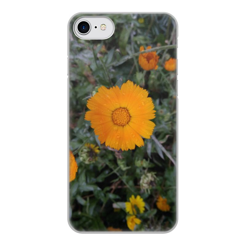 цена на Чехол для iPhone 8, объёмная печать Printio Летние цветы