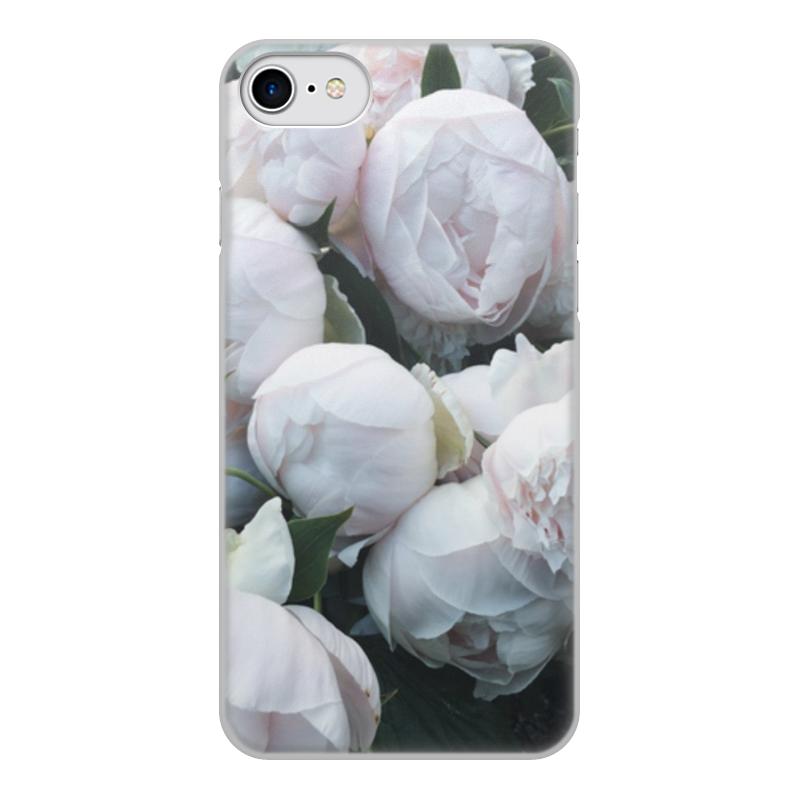 Чехол для iPhone 8, объёмная печать Printio Пионы цена