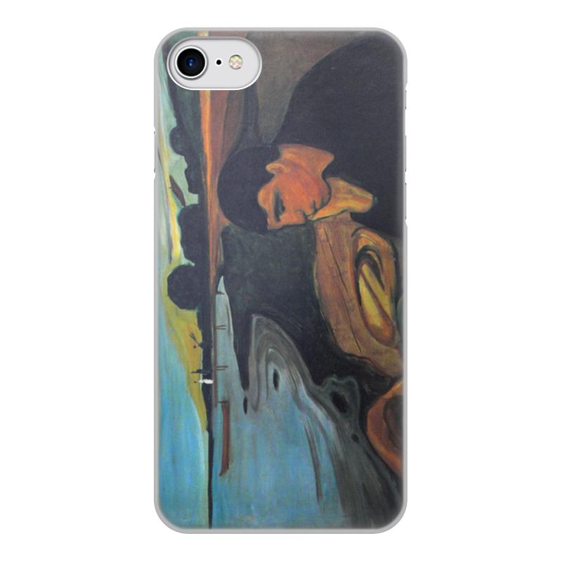 Чехол для iPhone 8, объёмная печать Printio Меланхолия (эдвард мунк) чехол для iphone 6 глянцевый printio эдвард мунк крик