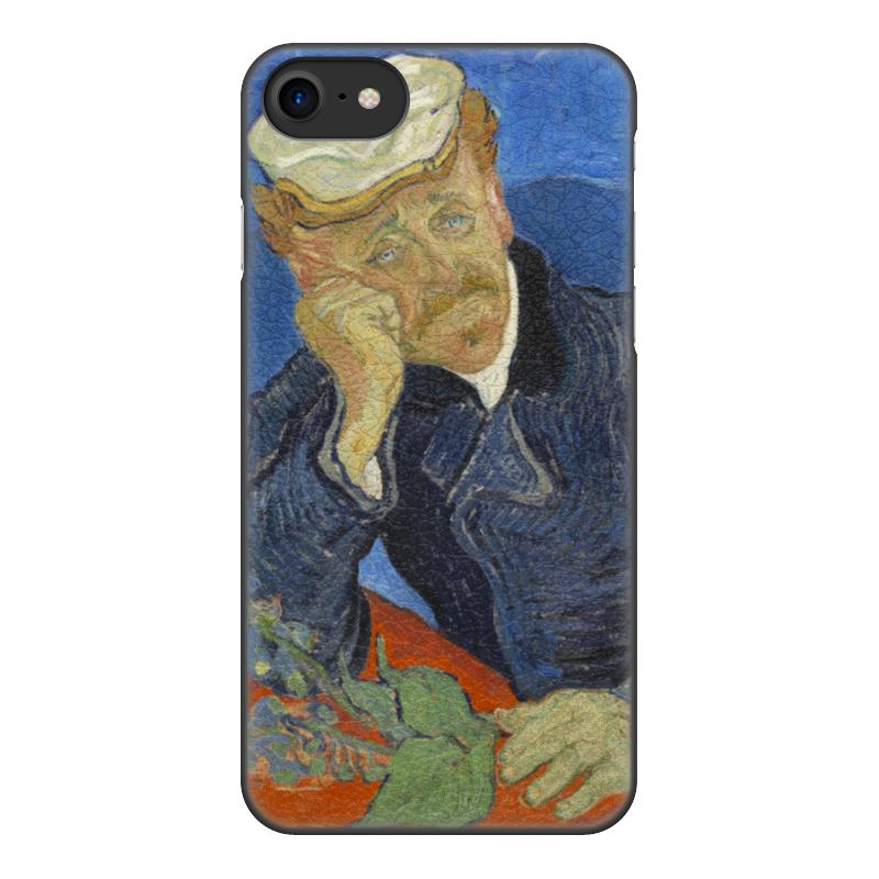 Чехол для iPhone 8, объёмная печать Printio Портрет доктора гаше (винсент ван гог) цена и фото