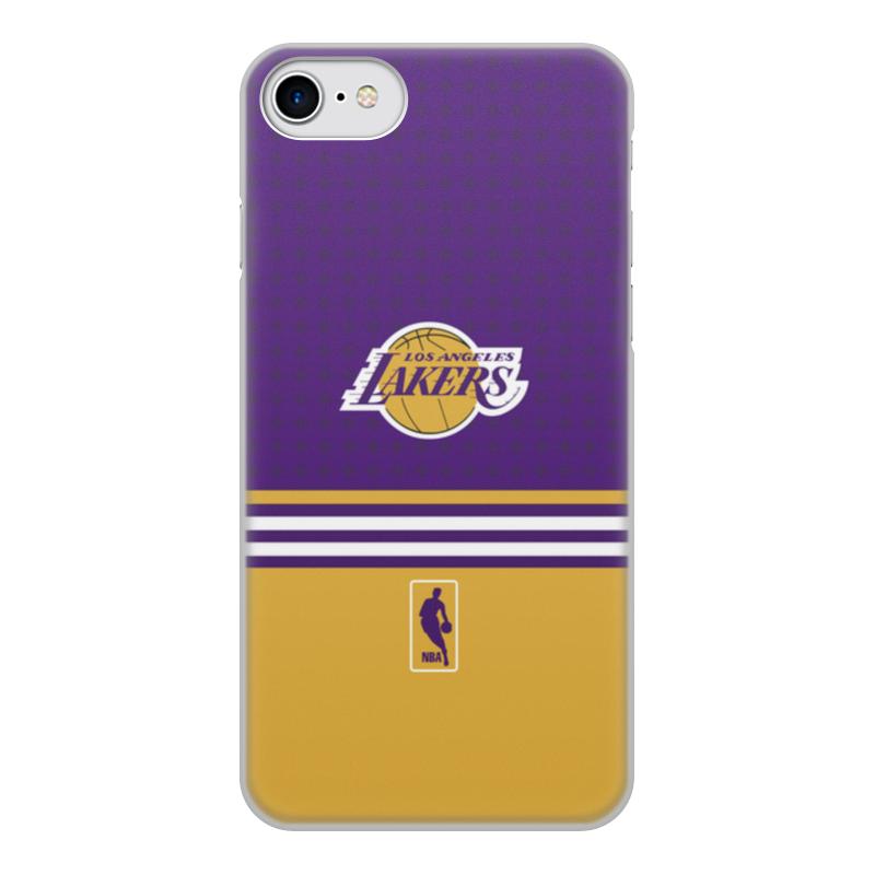 Чехол для iPhone 8, объёмная печать Printio Lakers case pro чехол для iphone 5 5s объёмная печать printio lakers case pro