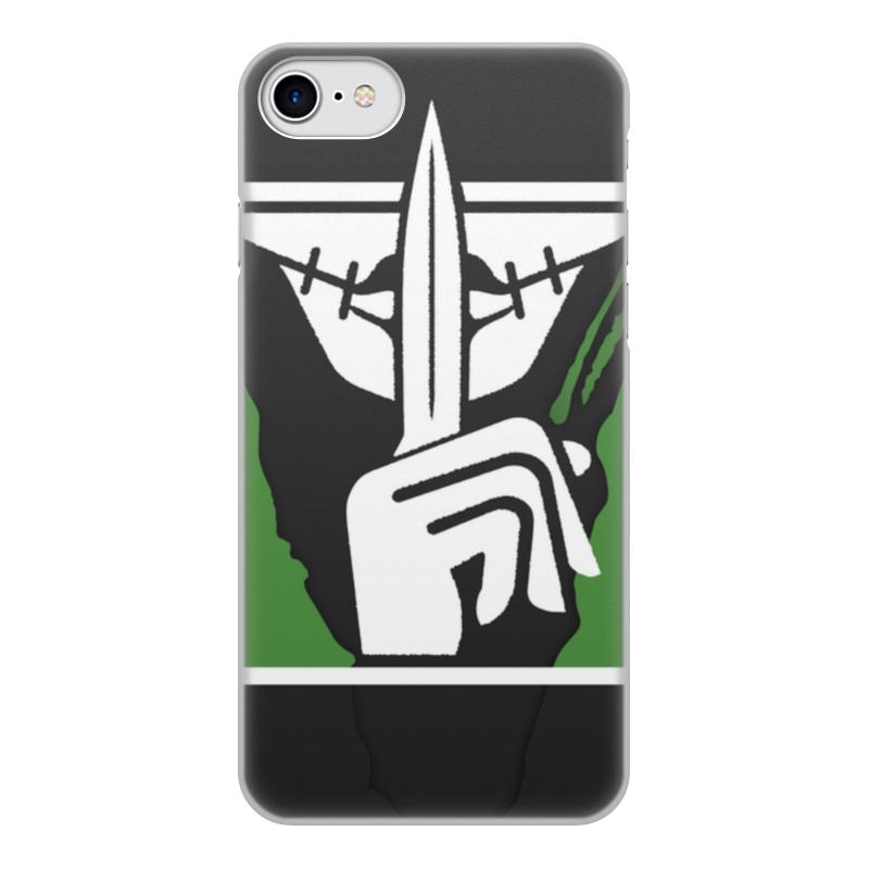 Фото - Чехол для iPhone 8, объёмная печать Printio Caveira чехол для iphone 5 глянцевый с полной запечаткой printio deadpool vs punisher