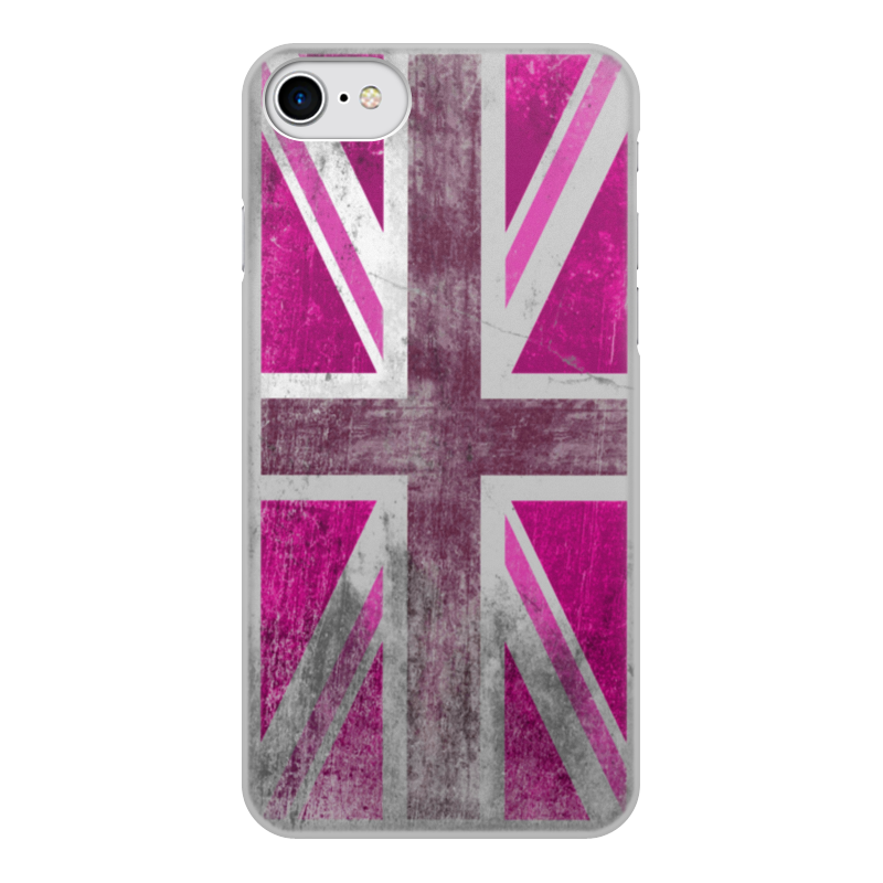 Чехол для iPhone 8 объёмная печать Printio Розовый британский флаг