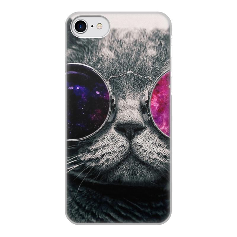 Фото - Чехол для iPhone 8, объёмная печать Printio Кот кошка чехол для iphone 5 глянцевый с полной запечаткой printio deadpool vs punisher