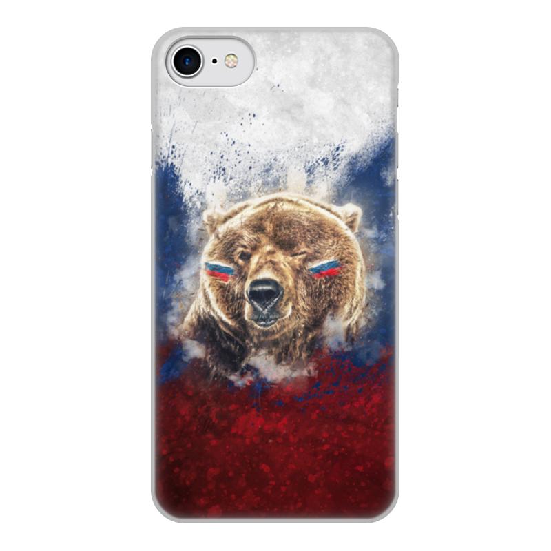 Чехол для iPhone 8, объёмная печать Printio Русский медведь
