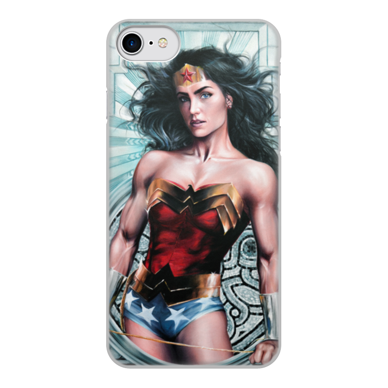 Чехол для iPhone 8, объёмная печать Printio Чудо-женщина (wonder woman) носки nike elite running cushion qtr sx4850 010