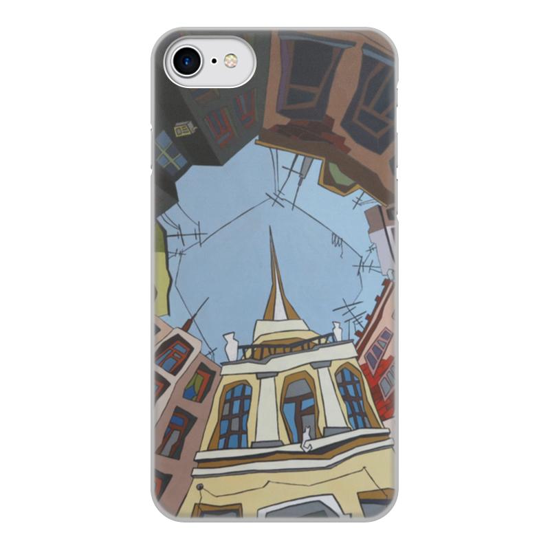 Чехол для iPhone 8, объёмная печать Printio Двор-колодец цена
