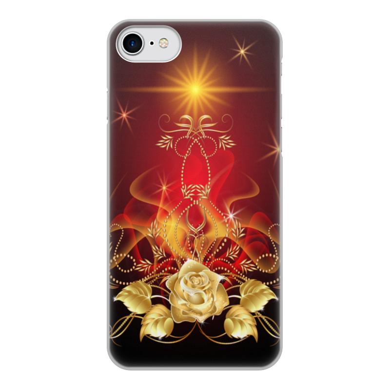 Чехол для iPhone 8, объёмная печать Printio Золотая роза хомут ekf plc c 2 5x150