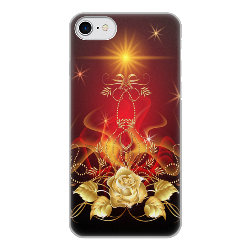 Чехол для iPhone 8, объёмная печать Printio Золотая роза смартфон alcatel pixi 4 ds full white 5045d