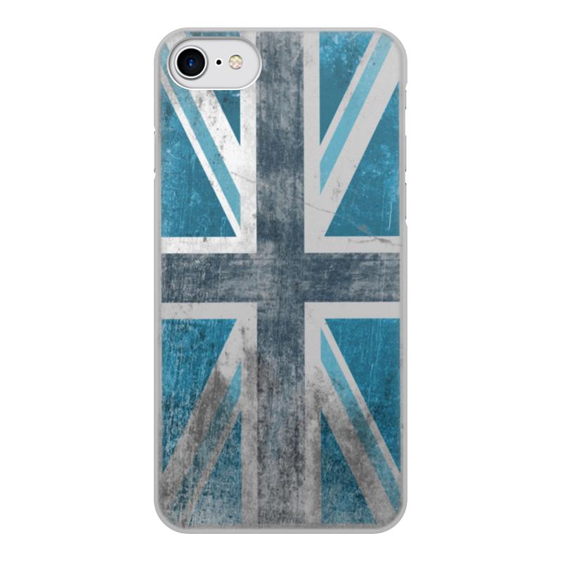 Чехол для iPhone 8 объёмная печать Printio Синий британский флаг
