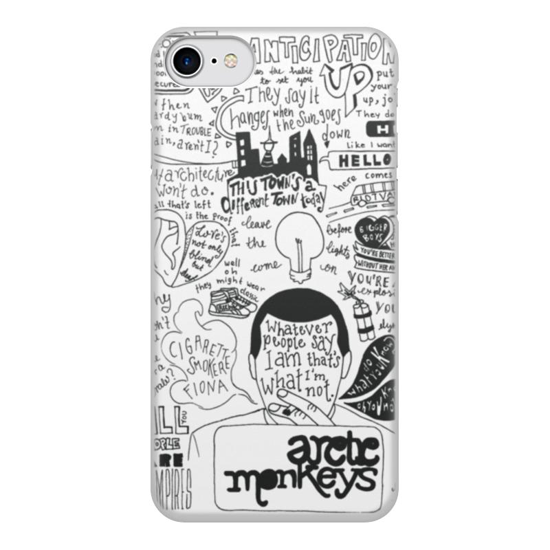 Чехол для iPhone 8, объёмная печать Printio Arctic monkeys цена
