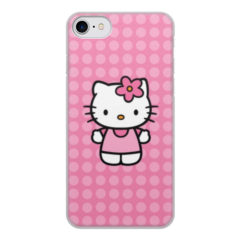 Чехол для iPhone 8, объёмная печать Printio Kitty в горошек леггинсы printio kitty в горошек