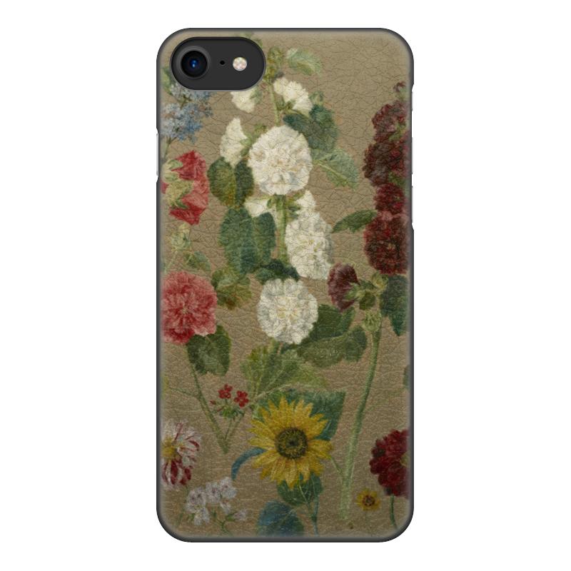 Чехол для iPhone 8, объёмная печать Printio Цветы (эжен делакруа)