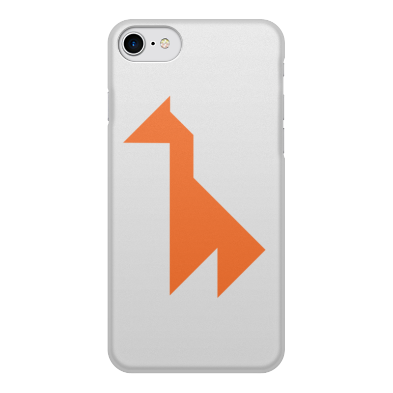 Чехол для iPhone 8, объёмная печать Printio Оранжевый жираф yafox dt mb057 наушник earbud наушник совместимый iphone дистанционный оранжевый
