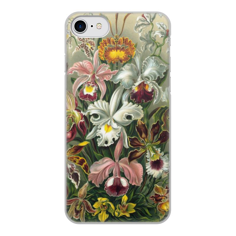 Чехол для iPhone 8, объёмная печать Printio Орхидеи (orchideae, ernst haeckel) самые дешевые орхидеи в москве