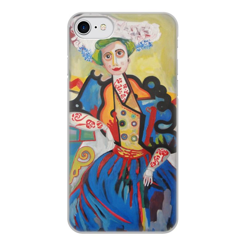 лучшая цена Чехол для iPhone 8, объёмная печать Printio Женщина (амадеу ди соза-кардозу)