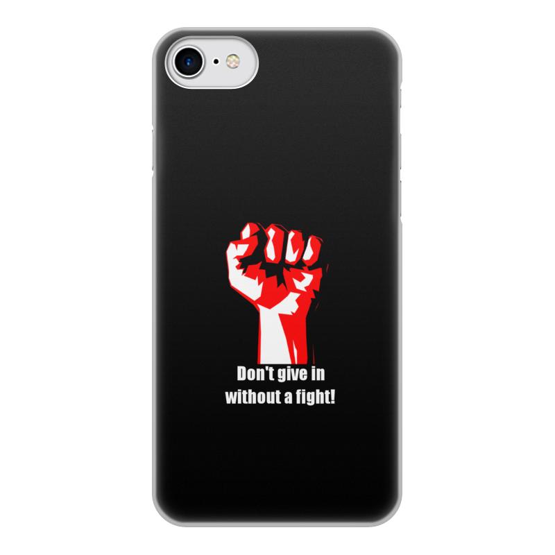 Чехол для iPhone 8, объёмная печать Printio Битва. драка. fight. бойцовский клуб чехол для iphone 4 глянцевый с полной запечаткой printio битва драка fight бойцовский клуб