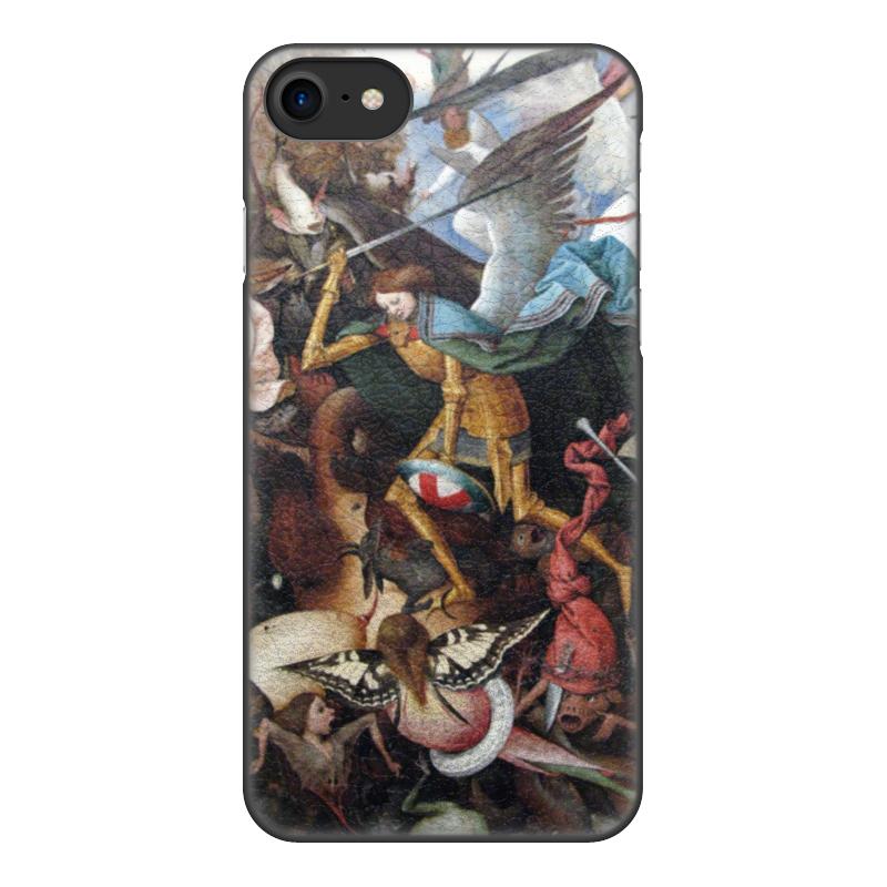 Чехол для iPhone 8, объёмная печать Printio Падение мятежных ангелов (питер брейгель) pu leather suede panel ote