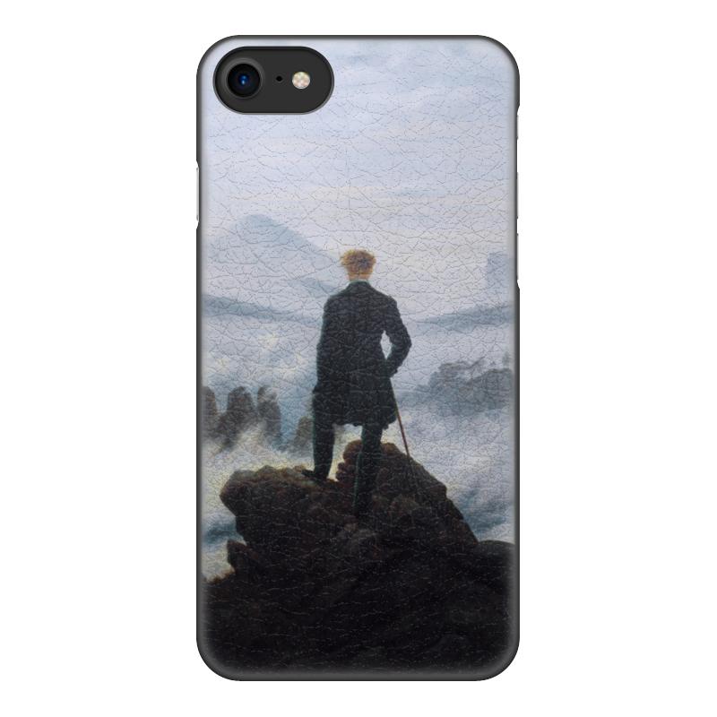 Чехол для iPhone 8, объёмная печать Printio Странник над морем тумана вышел ангел из тумана