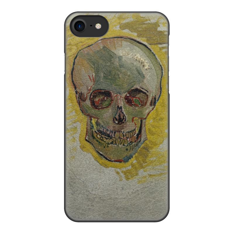 Чехол для iPhone 8, объёмная печать Printio Череп ii (винсент ван гог) цена и фото