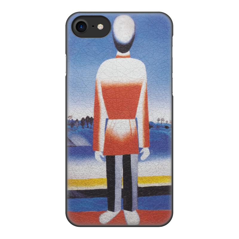 Чехол для iPhone 8, объёмная печать Printio Человек в супрематическом ландшафте mooncase чехол для iphone 5g 5s флип pu кожаный бумажник складная подставка feature чехол обложка no a08