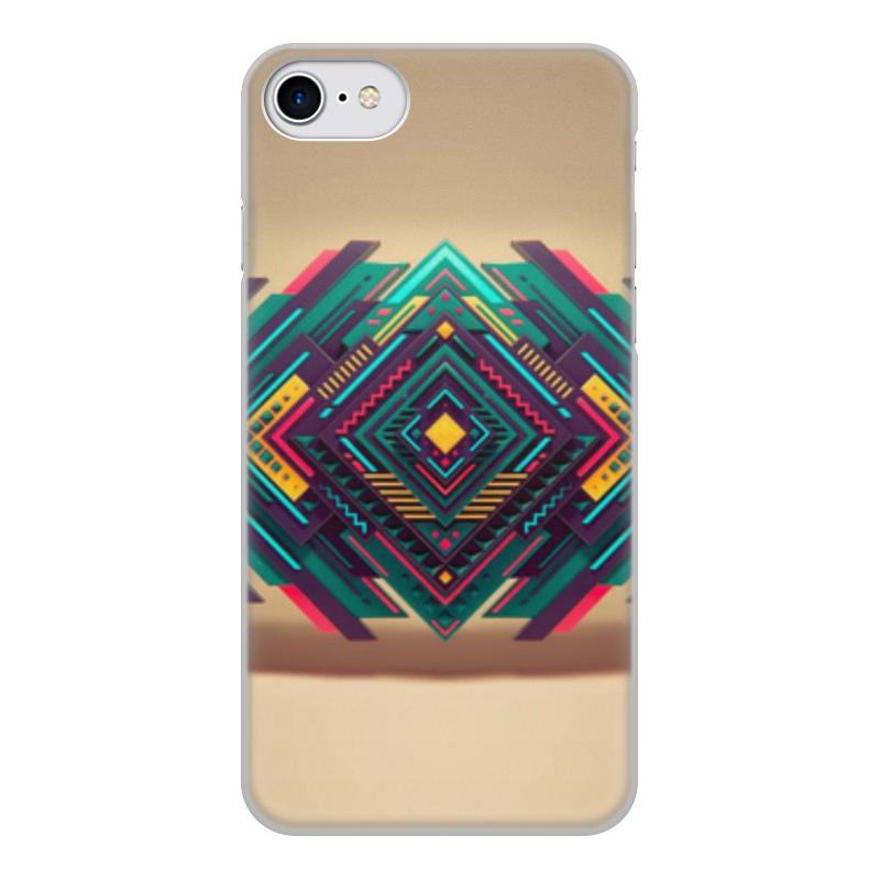 Чехол для iPhone 8, объёмная печать Printio Абстракция чехол для iphone 6 объёмная печать printio разноцветная абстракция