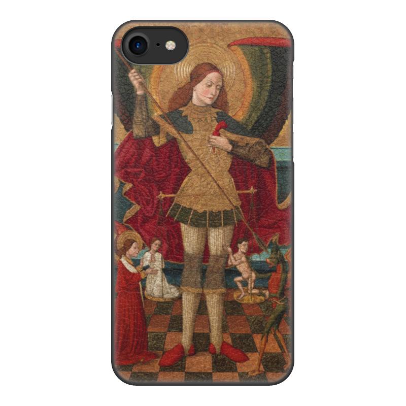 Чехол для iPhone 8, объёмная печать Printio Святой михаил взвешивает души чехол для iphone 6 глянцевый printio архангел михаил