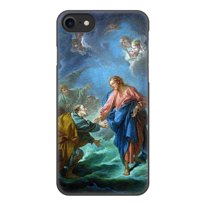 Чехол для iPhone 8, объёмная печать Printio Святой петр, пробующий идти по воде