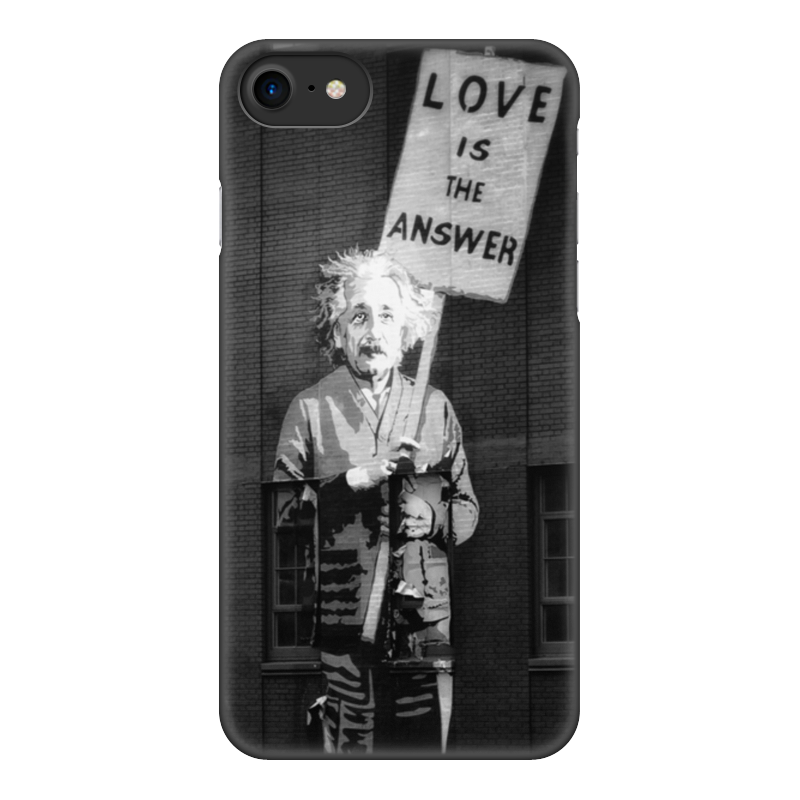 Чехол для iPhone 8, объёмная печать Printio Love is the answer чехол obey love is the drug iphone 4 4s black