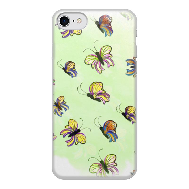 Чехол для iPhone 8, объёмная печать Printio Бабочки чехол для iphone 8 объёмная печать printio воздушный шар рисунок от руки акварель