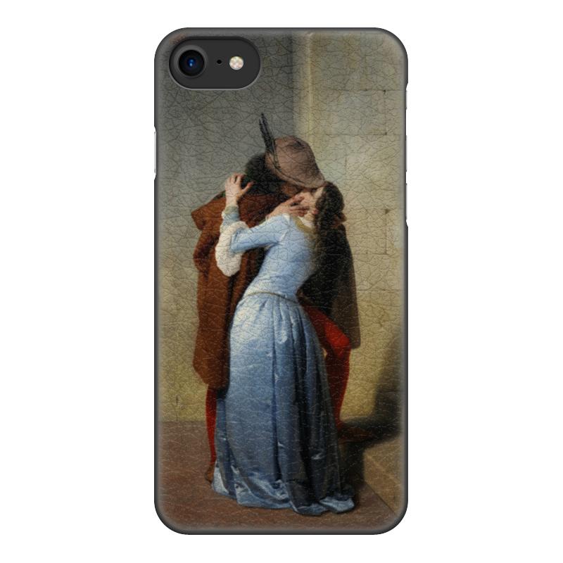 Чехол для iPhone 8, объёмная печать Printio Поцелуй (франческо айец) чехол для iphone 6 глянцевый printio поцелуй музы