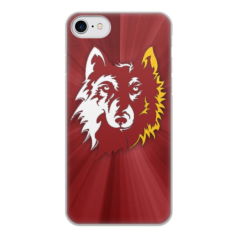 Чехол для iPhone 8, объёмная печать Printio Волк арт чехол для iphone 7 объёмная печать printio мишка и волк