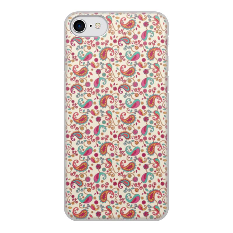 Чехол для iPhone 8, объёмная печать Printio Пейсли (яркий) чехол для iphone 8 объёмная печать printio girly girl