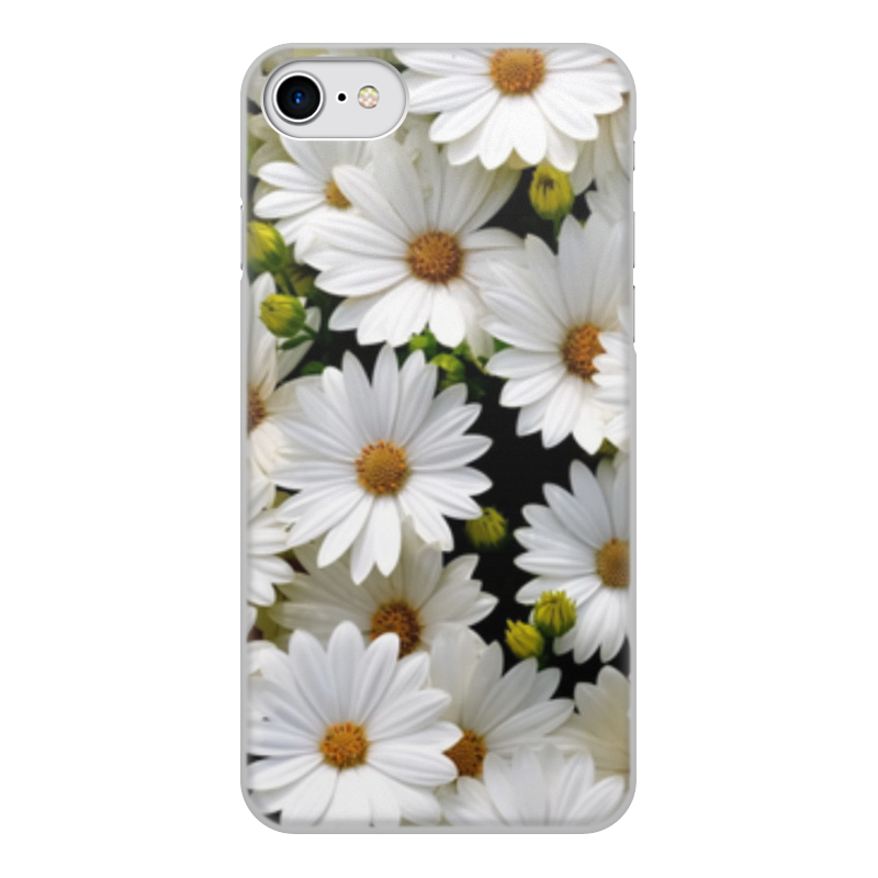 Чехол для iPhone 8, объёмная печать Printio Цветы чехол для iphone 8 объёмная печать printio буря красок