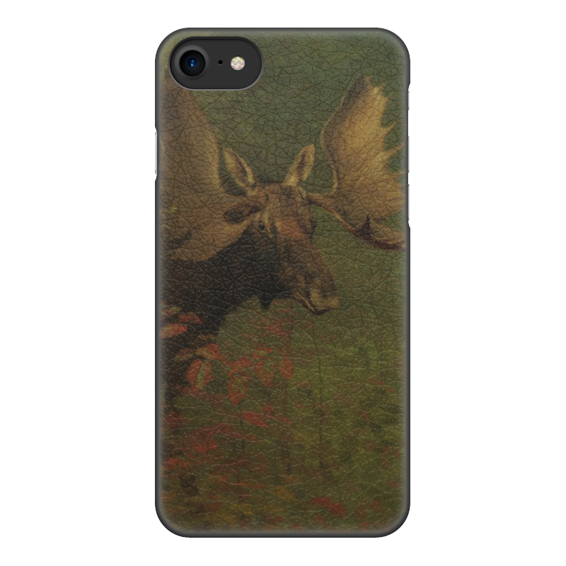 Чехол для iPhone 8, объёмная печать Printio Лось (study of a moose) (альберт бирштадт) digital coating thickness gauge 1 micron 0 1300 fe nfe car paint film auto gy910 digital thickness tester meter english russian