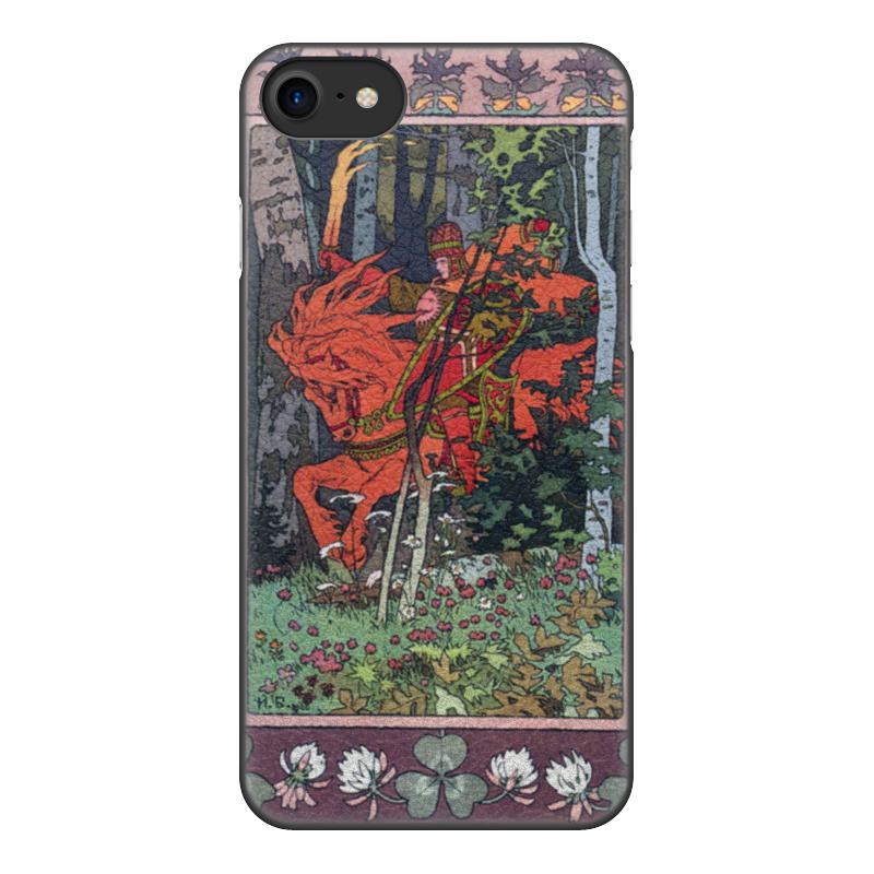 Чехол для iPhone 8, объёмная печать Printio Красный всадник (иван билибин) цена