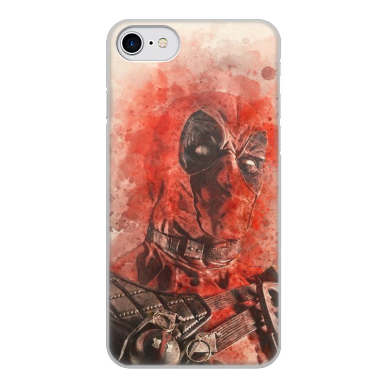 Чехол для iPhone 8, объёмная печать Printio Дэдпул (deadpool) все цены