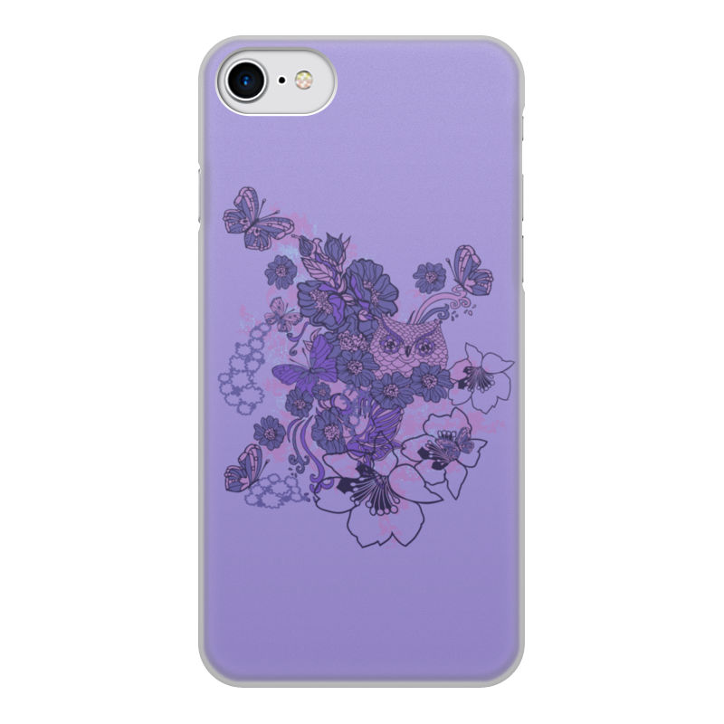 Чехол для iPhone 8, объёмная печать Printio Сова в цветах чехол для iphone 5 printio сова в цветах
