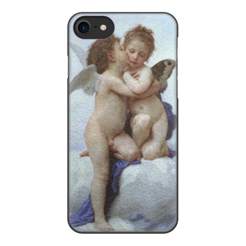 Чехол для iPhone 8, объёмная печать Printio Амур и психея дети (вильям бугро) чехол для iphone 6 глянцевый printio купальщица вильям бугро
