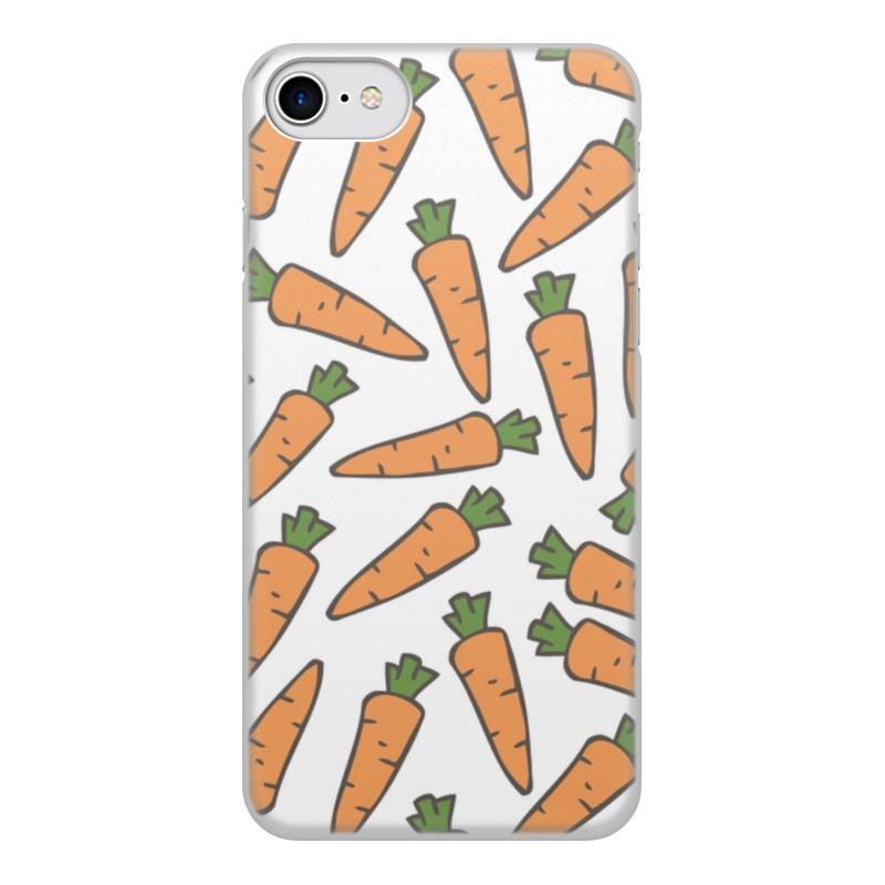 Чехол для iPhone 8, объёмная печать Printio Морковки цена и фото