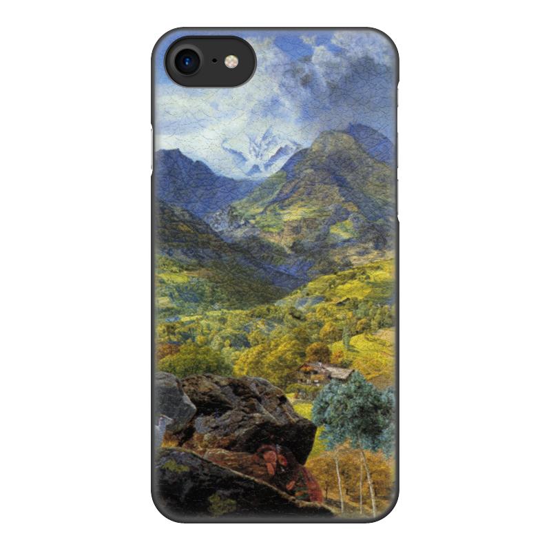 Чехол для iPhone 8, объёмная печать Printio Валле-д'аоста (картина джона бретта) чехол для iphone 6 глянцевый printio дама в голубом картина сомова