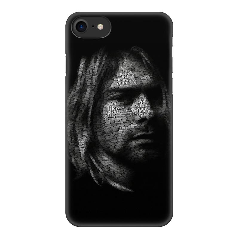 Чехол для iPhone 8, объёмная печать Printio Курт кобейн