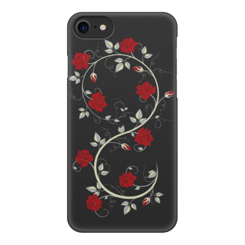 Фото - Чехол для iPhone 8, объёмная печать Printio Красные розы чехол для iphone x объёмная печать printio лепестки розы